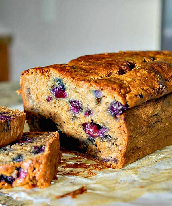 Gluten-Free Blueberry Banana Bread