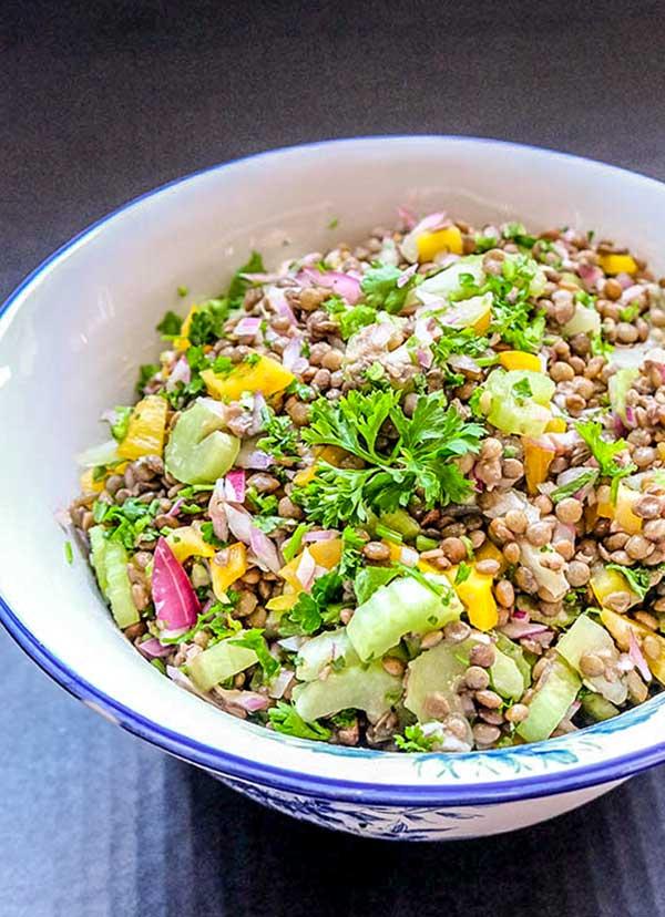 Immune Boosting Lentil Salad