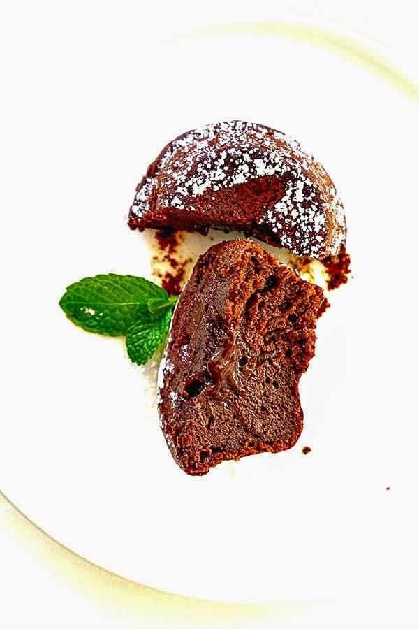Gluten Free Chocolate Lava Muffins