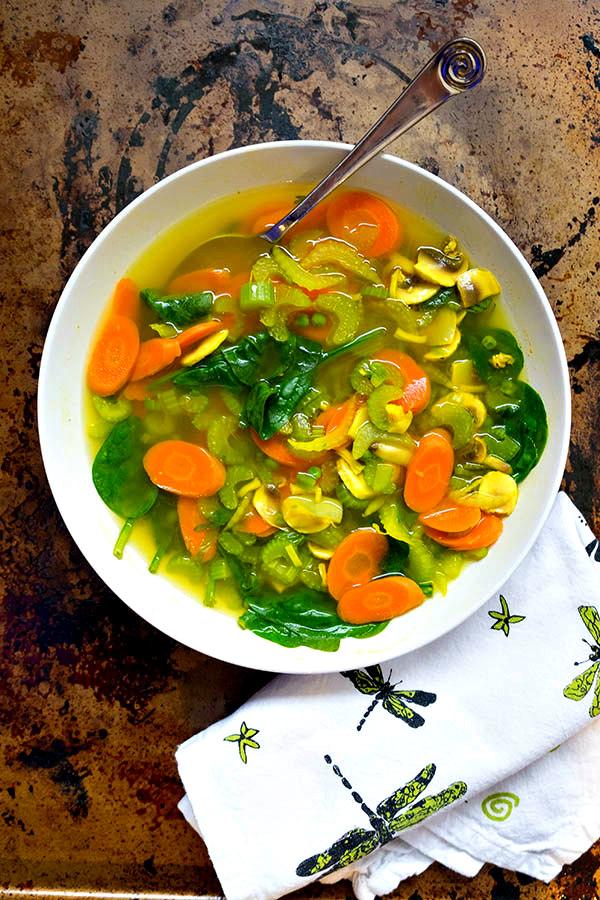 Vegan Immune Boosting Turmeric Soup