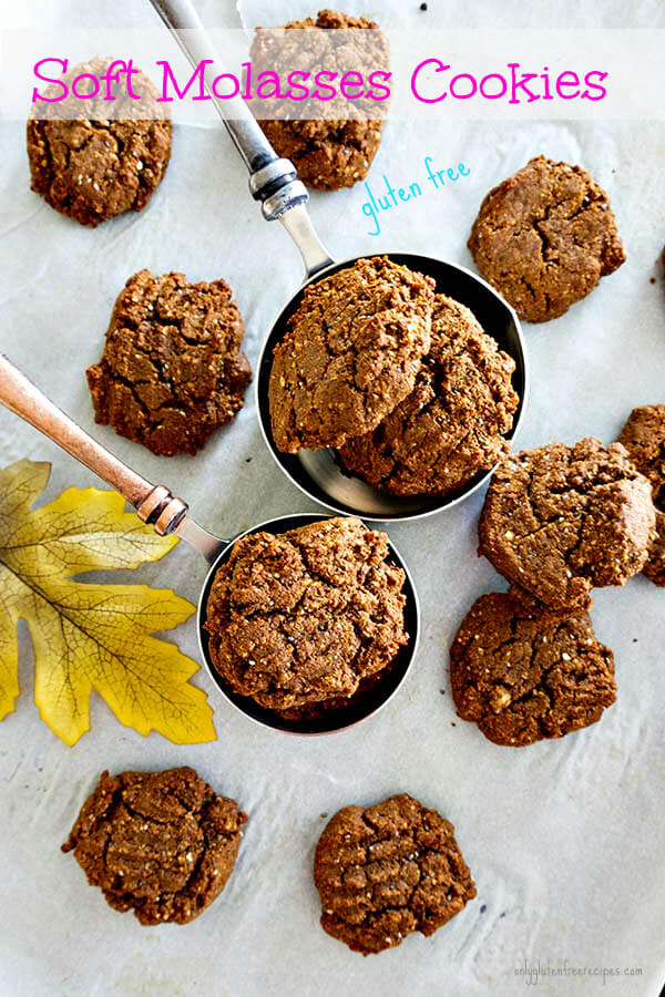 Gluten Free Classic Soft Molasses Cookies - Only Gluten Free Recipes