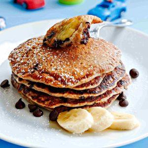 Gluten Free Chocolate Banana Pancakes