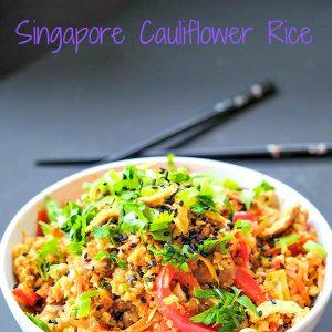 Low Carb Singapore Cauliflower Rice