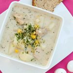 chicken, chowder, corn