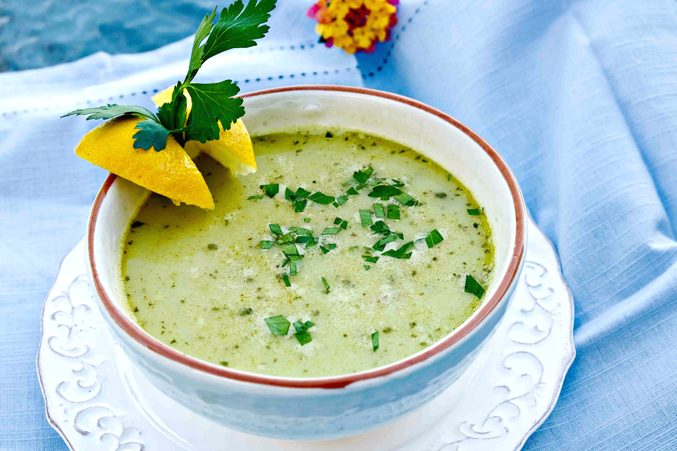 chickpea parsley soup, immune boosting