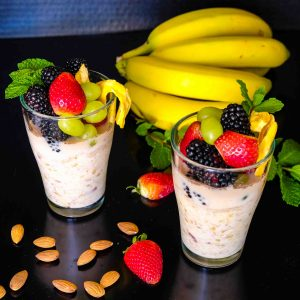 Banana Almond Overnight Oats Recipe