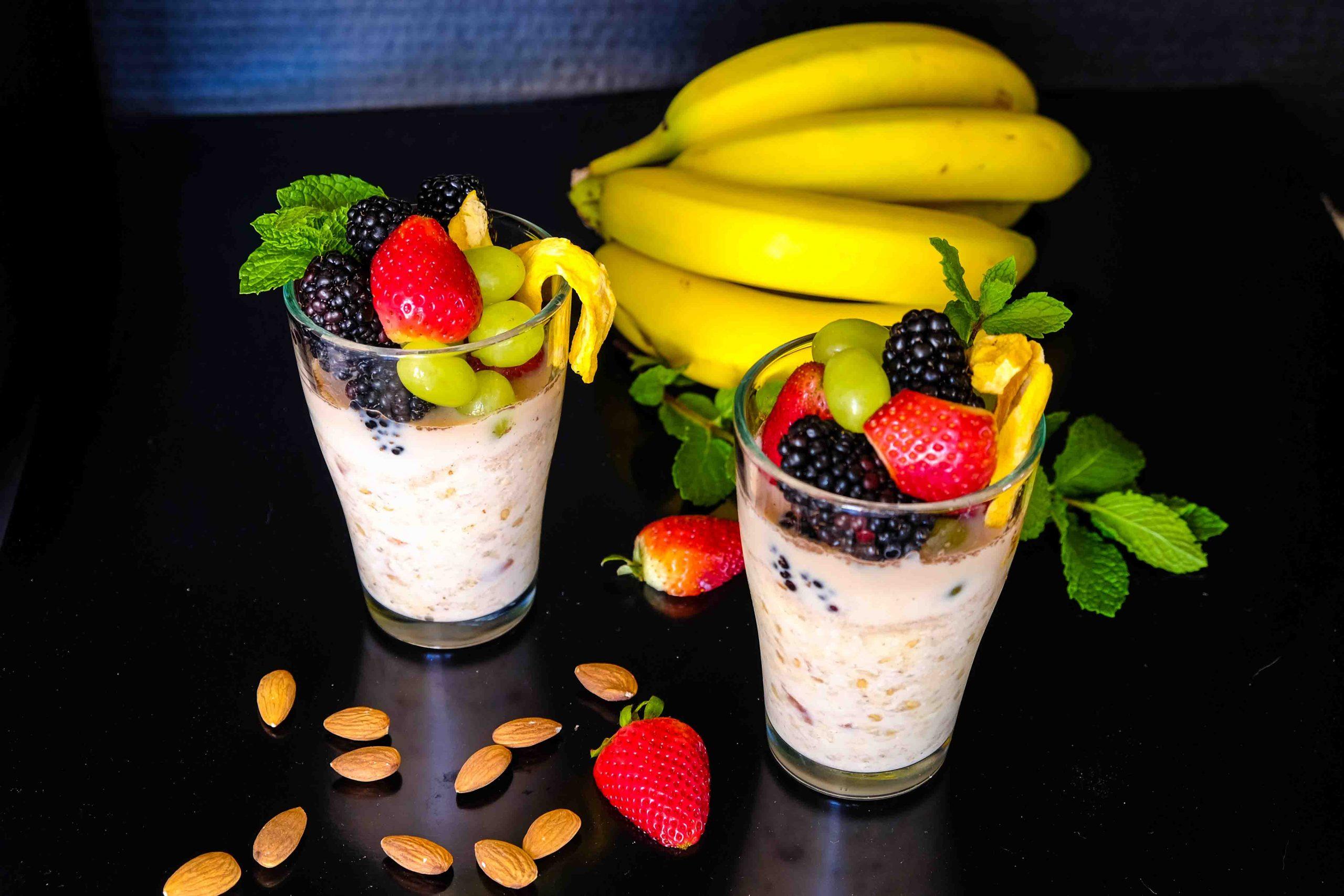 Banana Almond Overnight Oats Recipe