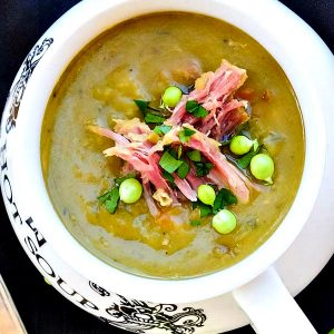 Split Pea Soup with Ham Bone