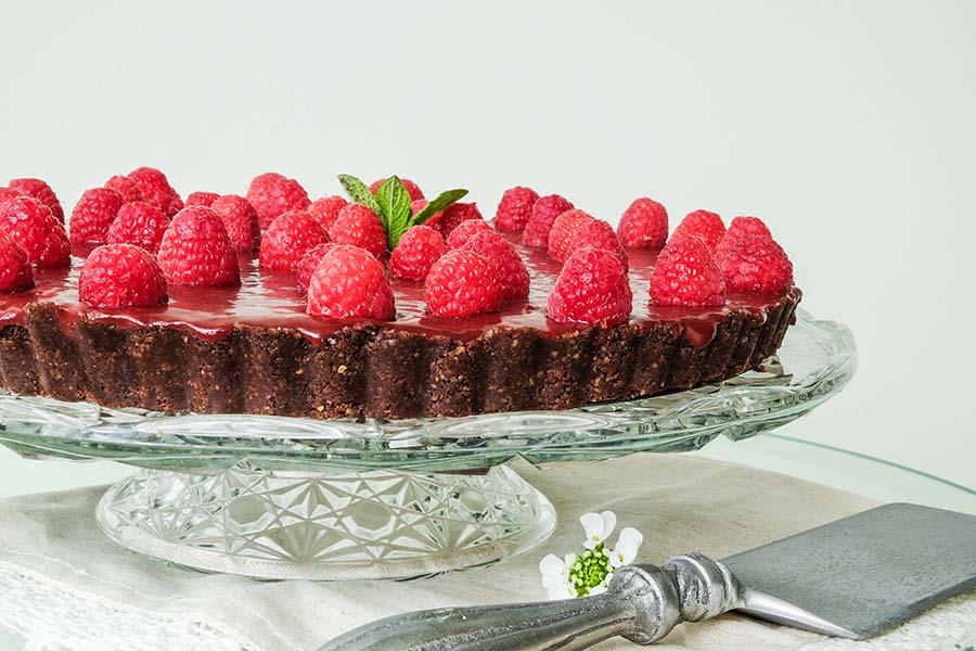 raspberry chocolate tart gluten free