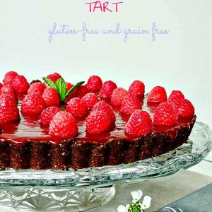 Gluten Free No Bake Raspberry Chocolate Tart