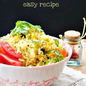 Vegetarian Biryani Rice – Easy Recipe