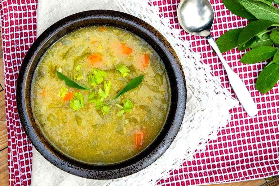 Immune Boosting Turmeric Celery Soup