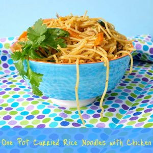 One Pot Curried Rice Noodles with Chicken