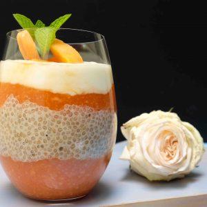 Detox Papaya Chia Breakfast Pudding