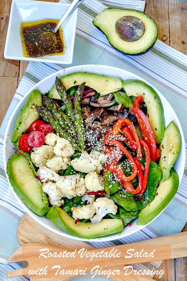 Roasted Vegetable Salad with Tamari Ginger Dressing - Only Gluten ...