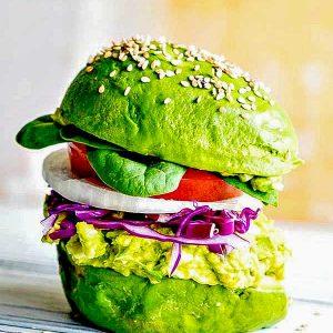 Avocado Egg Salad Burger Recipe