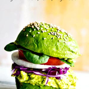 Avocado Egg Salad Burger Recipe
