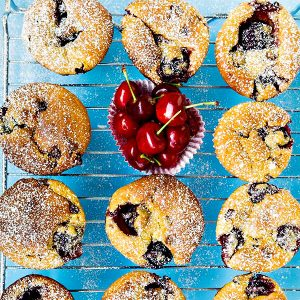 Gluten Free Cherry and Chocolate Muffins