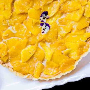 Gluten Free No Bake Cashew Butter Tart with Pineapples