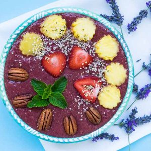 Pineapple Blackberry Chia Smoothie Bowl