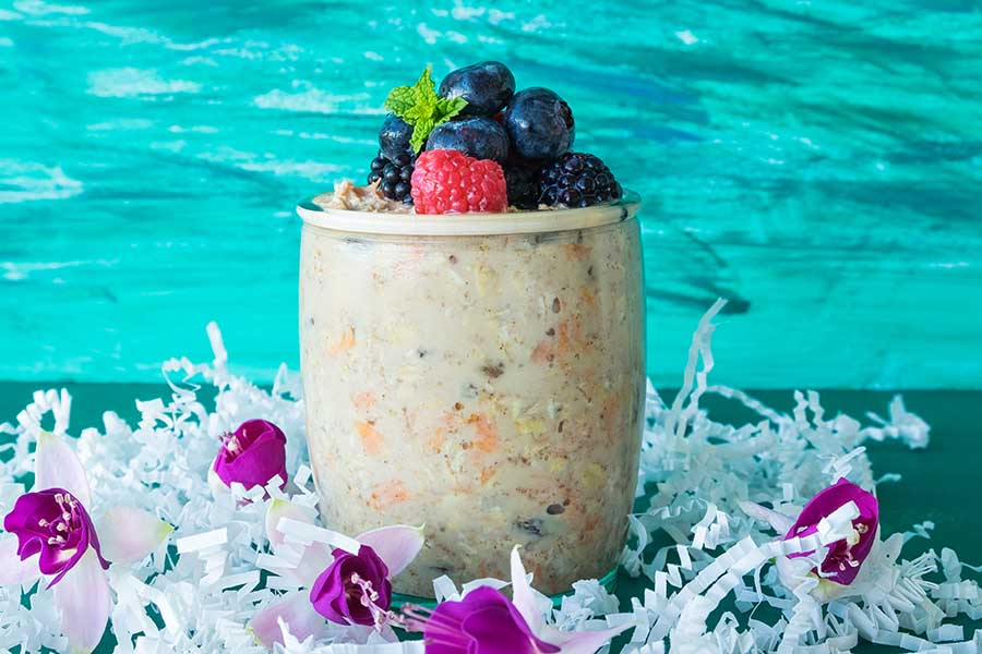 Carrot Cake Overnight Oats – Gluten Free