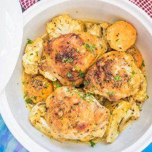Cauliflower Fennel and Sweet Potato Chicken Tagine