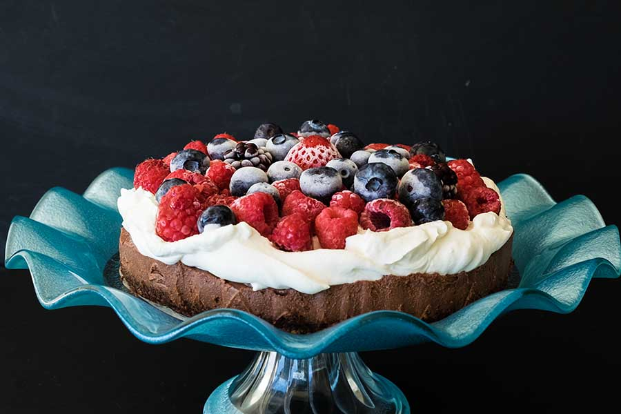 Grain Free Vegan No Bake Silk Chocolate Cake