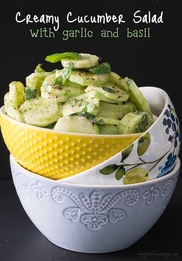 Creamy Cucumber Salad With Garlic And Basil