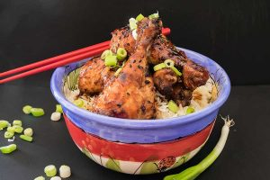chicken, peking sauce