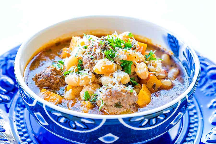 Tuscan white bean soup, gluten free