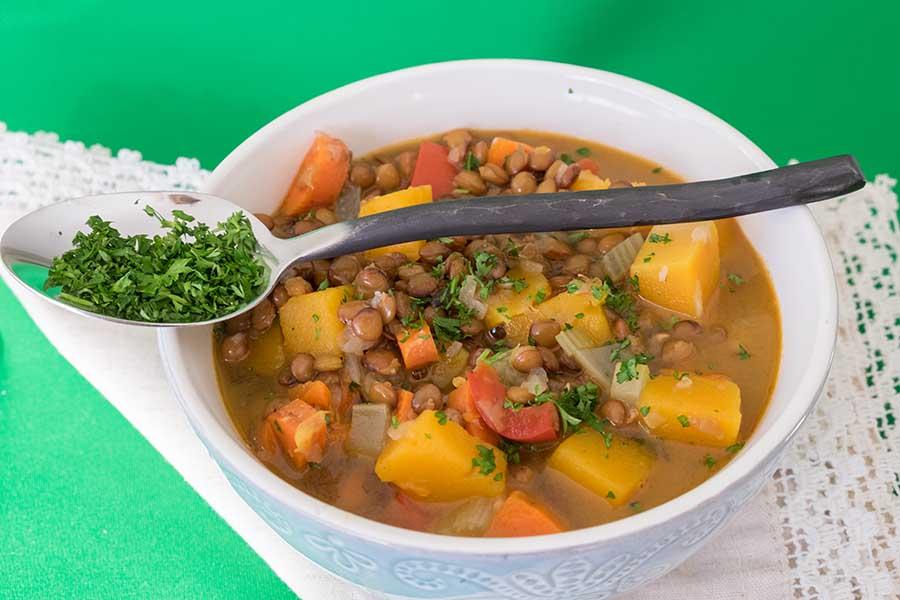 vegan, lentil, butternut, squash, soup