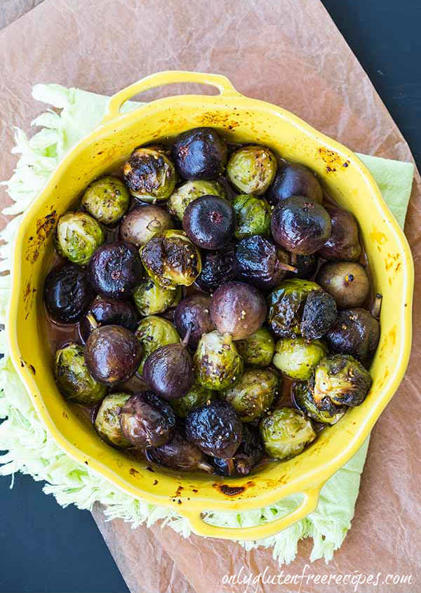 Roasted Brussel Sprouts with Fresh Figs
