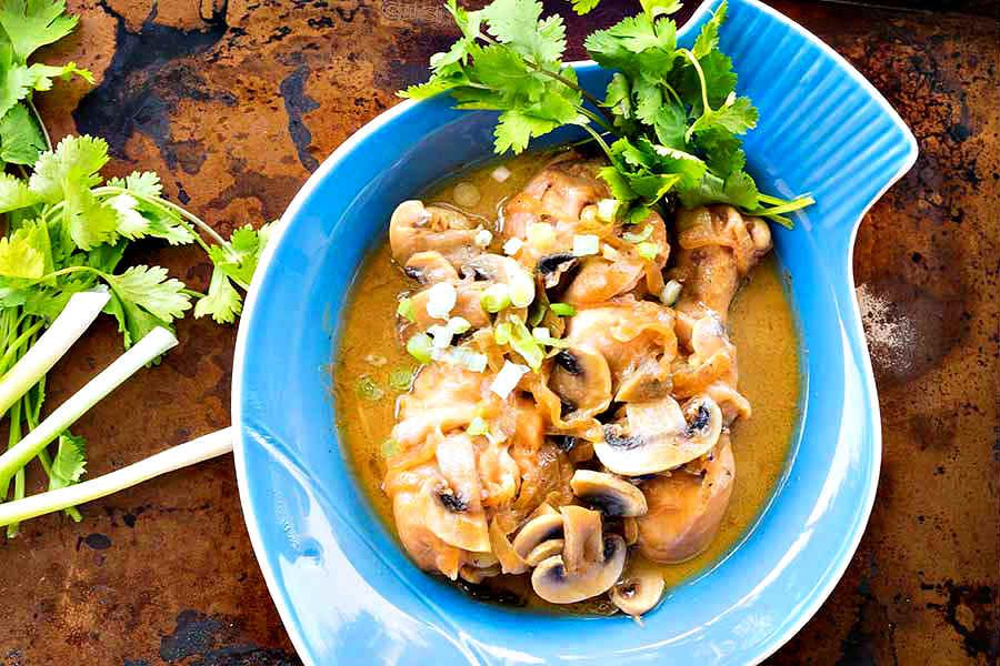 Gluten-Free Chicken Mushroom Adobo