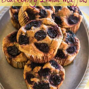 Gluten-Free Keto Blackberry Lemon Muffins