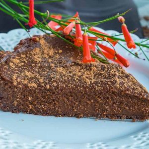 Gluten-Free No Bake Chocolate Pumpkin Pie