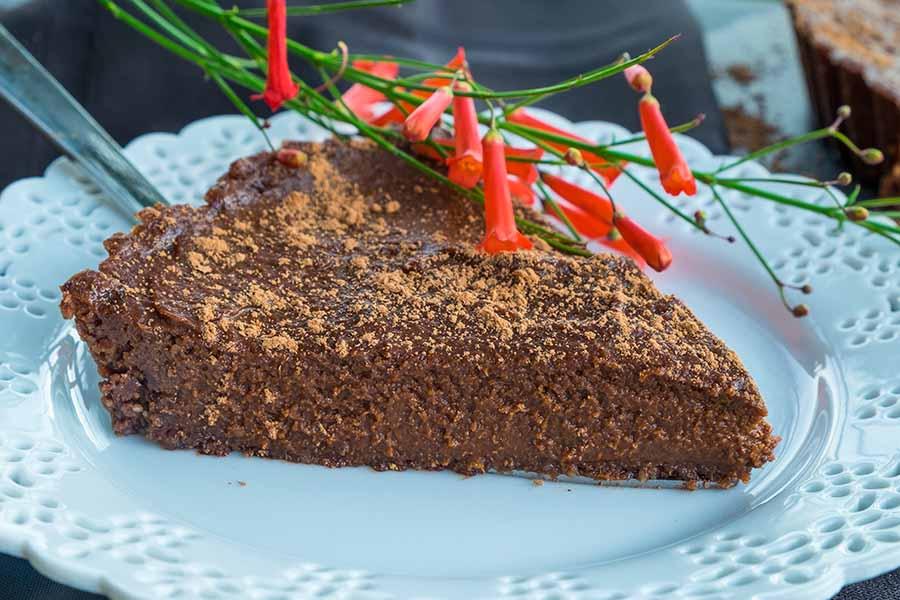 chocolate pumpkin pie, gluten free