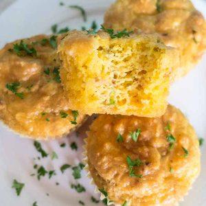 Keto Cheesy Bacon Jalapeno Muffins