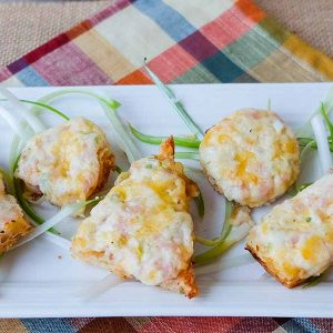 Gluten-Free Cheese and Bacon Canapés