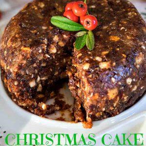 No-Bake Gluten-free Christmas Cake