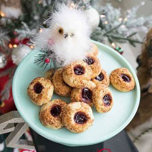 Gluten-Free Thumbprint Cookies with Cherry Jam