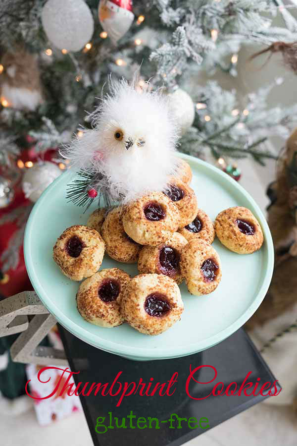 Gluten-Free Thumbprint Cookies with Cherry Jam