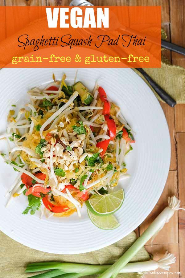 Easy Vegan Spaghetti Squash Pad Thai