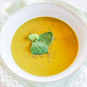 Vegan Cream of Super Greens Soup