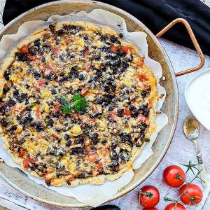 Gluten-Free Meatless Taco Pizza