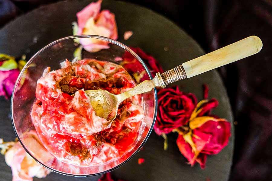 raspberry chocolate mocha mousse