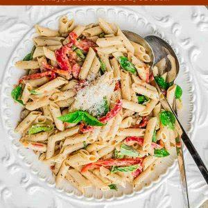 Chorizo With Basil Cream Sauce Penne – Gluten-Free