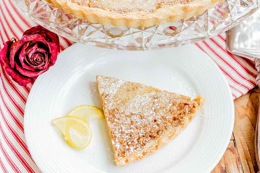 lemon tart, gluten free
