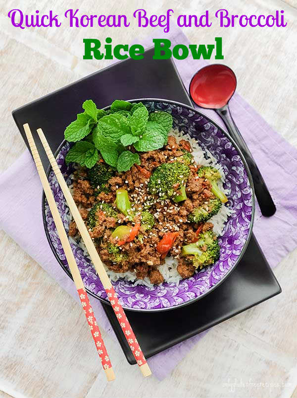 Quick Korean Beef and Broccoli Rice Bowl