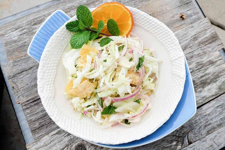 cabbage, fennel, salad