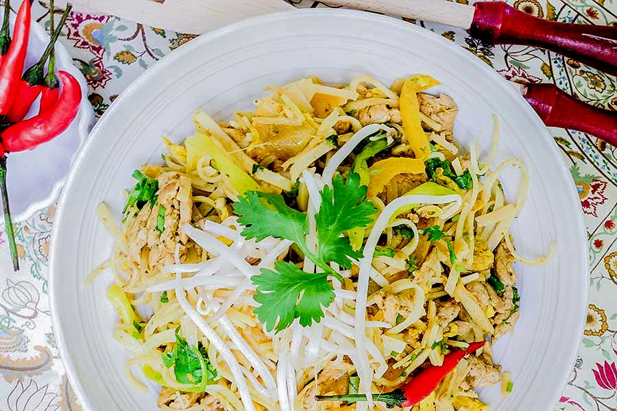 Gluten Free Curried Noodles With Pork